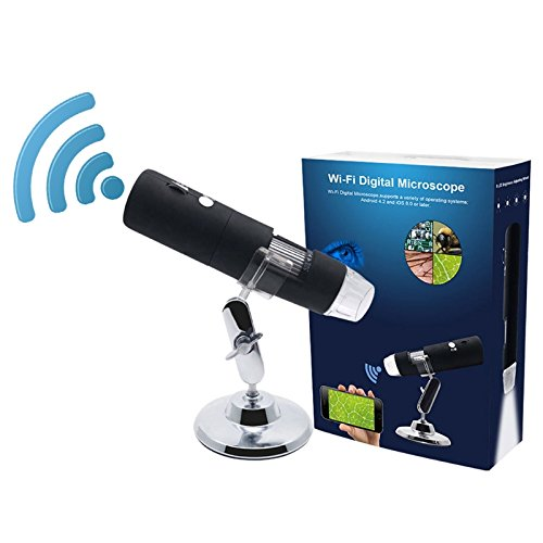 Tekit 1080P 1000X Zoom Wifi Wireless 8 LED USB Handheld Digital Microscope Magnifier Camera for Apple IOS/Android Smart Phone/Tablet Pc