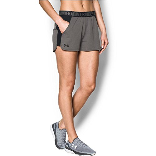 Under Armour Women's Play Up Short 2.0, Carbon Heather/Black, X-Small