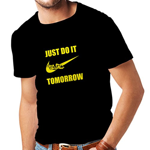 T Shirts for Men Just Do It Tomorrow - Workout Tops with Fun
