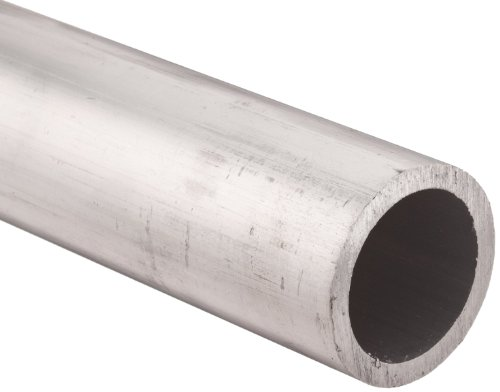 Aluminum 6061 Extruded Pipe Schedule 40 10'' Nominal, 10.02'' ID, 10-3/4'' OD, 0.365'' Wall, 48'' Length by Small Parts