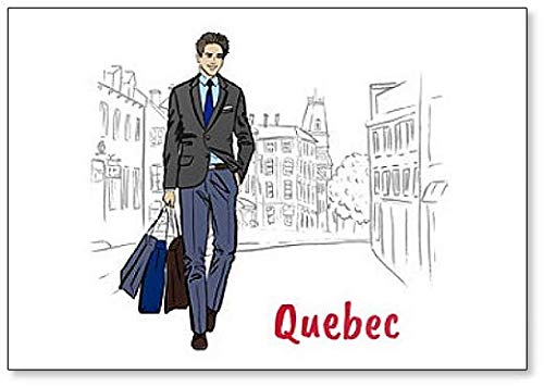 Man in Quebec Classic Fridge Magnet