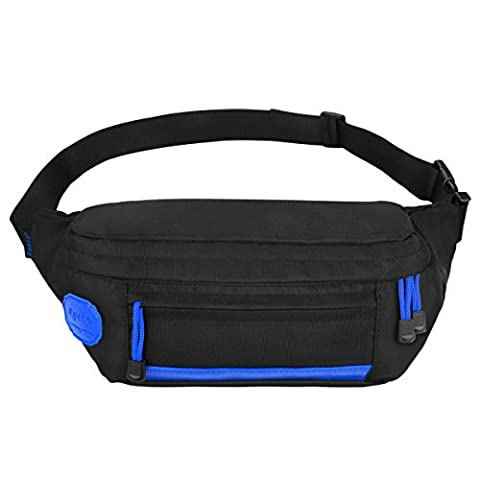 Ryaco [Big Pocket] R907 Waist Pack, Outdoor Sports Waist Bag, Bum bag, Running belt, Exercise (Rope 1 Luce)