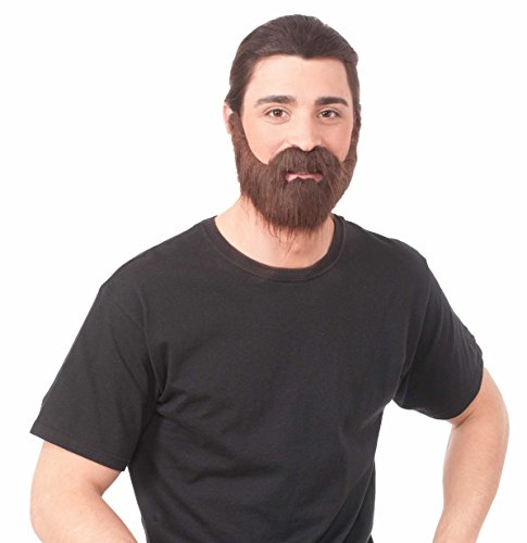 Full Brown Beard with Moustache ()