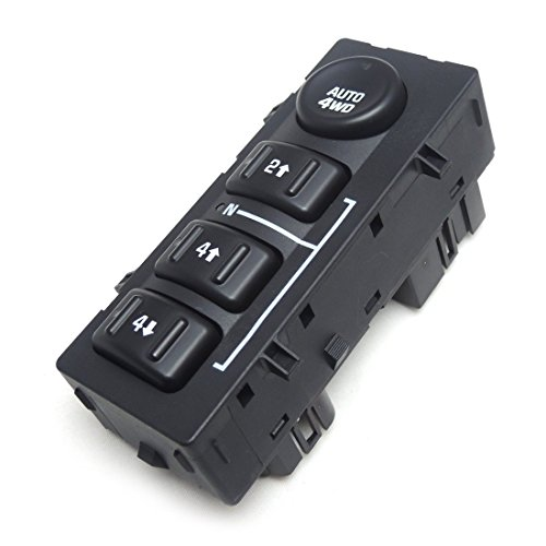 4WD 4x4 Wheel Drive Switch Transfer Case Selector Dash Switch for 03-06 Silverado Pickup Truck SUV (Wheels Suburban Chevrolet)