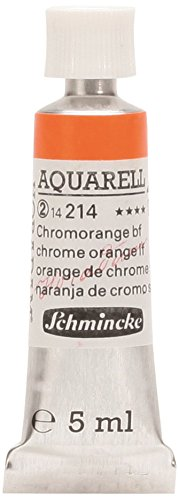 Schmincke 14214001 Artists Watercolors Chrome Orange, No Lead 5 ml Tube