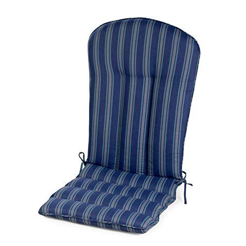 Blue Stripe Outdoor Adirondack Cushion Patio Seasonal Replacement Pad for Adirondack ()