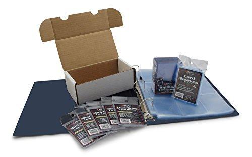 Titulares de Tarjeta de béisbol Starter Kit–Álbum de recolección, páginas, mangas, toploaders, mini-snap y caja de...
