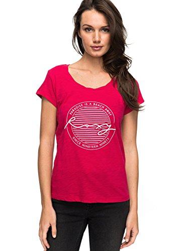 Roxy Bobby Twist Paradise Camiseta, Mujer rosa (persian red solid)