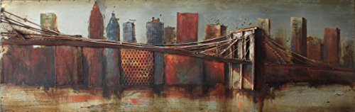 Empire Art Direct ''Bridge to the City 1'' Mixed Media Hand Painted Iron Wall Sculpture by Primo by Empire Art Direct