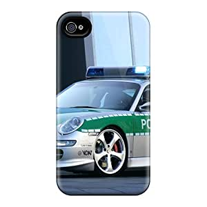 Ultra Slim Fit Hard Kristyjoy99 Cases Covers Specially Made For Iphone 4/4s- Porsche Police Car
