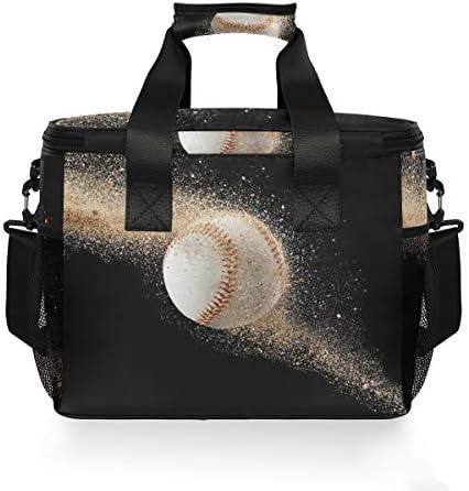Bardic - Borsa termica da baseball con sabbia, borsa termica per il pranzo, 24 lattine (15 l