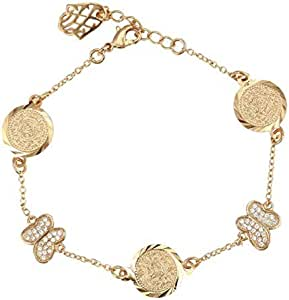 A gold-plated butterfly-shaped bracelet for women