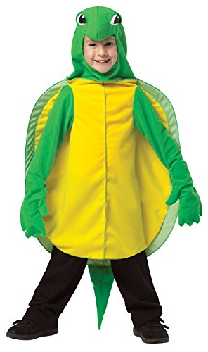 Boy's Tiny Turtle Reptiles Sea Ocean Outfit Child Halloween Costume, Child S (4-6) Yellow/Green]()