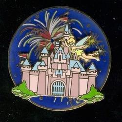(Disney Pin/DLRTinkerbell night flight castle/spinner)
