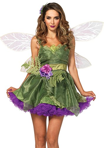 [Leg Avenue Women's Woodland Fairy Costume, Green, Medium] (Fairy Costume Adults Halloween)