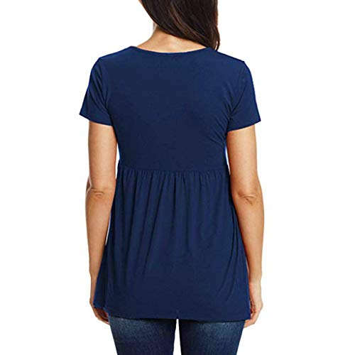 2b50814c087 Toponly Pregnancy Tee Women Short Sleeve Tops Nusring Baby Maternity Clothes  T Shirt Blue by Toponly
