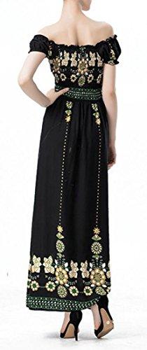 Dell'impero A Lungo Vita Verde Donne Cromoncent Altalena Stampato Vita Pantaloni Elegante Pieghettata Bassa Vestito H8qtwqA