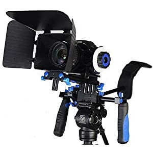 Flashandfocus.com 413FBJZr0vL._SS300_ Morros DSLR Rig Movie Kit Shoulder Mount Rig with Follow Focus and Matte Box for All DSLR Cameras and Video Camcorders