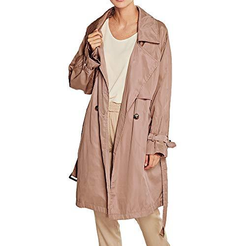 Yiqianzhaobiao_Coats Outerwear Women Long Section Long Sleeved Button Slim Lapel Ladies Windbreaker Coat ()