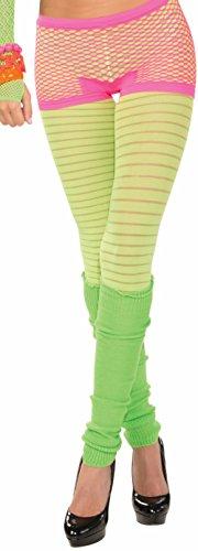 FORUM NOVELTIES Candy Neon Fishnet Costume Shorts  Pink  One Size