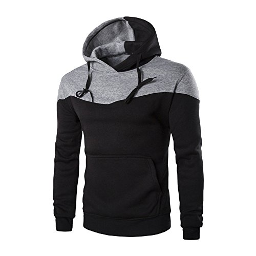 (REYO Men's Coats Winter Clearance Slim Hoodie Warm Hooded Sweatshirt Coat Sweater Jacket Long Sleeve Tops)