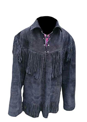 Leather Fringed Shirt Jacket - 5