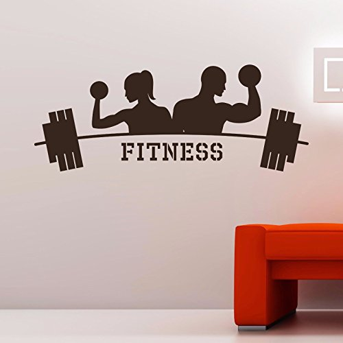 Fitness Gym Wall Decal Vinyl Sticker Sports Athletics Art Home Decor Sticker
