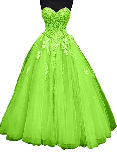 Charmant Abendkleider Abschlussballkleider Lemon Prinzess Rock A Linie Promkleider Gruen Spitze Ballkleider Damen Herzausschnitt rIwRqxrA