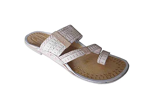 6c07f012f Kalra Creations Traditional Indian Handmade Men Slippers Shoes Casual  Flip-Flops Flat UK 5.5