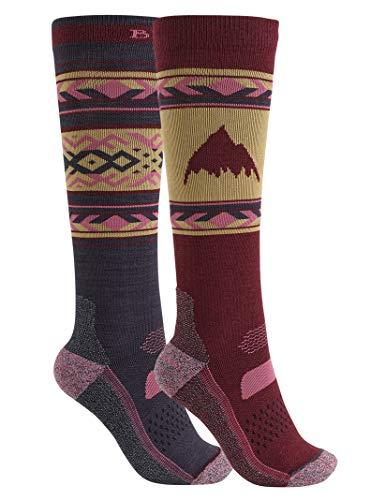 Burton Women's Performance Lightweight Two Pack Sock, Port Royal W19, SmallMedium