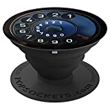 old phone dial - Adhesive Phone Case Stand Grip - Vintage Old Phone Dial - PopSockets Grip and Stand for Phones and Tablets