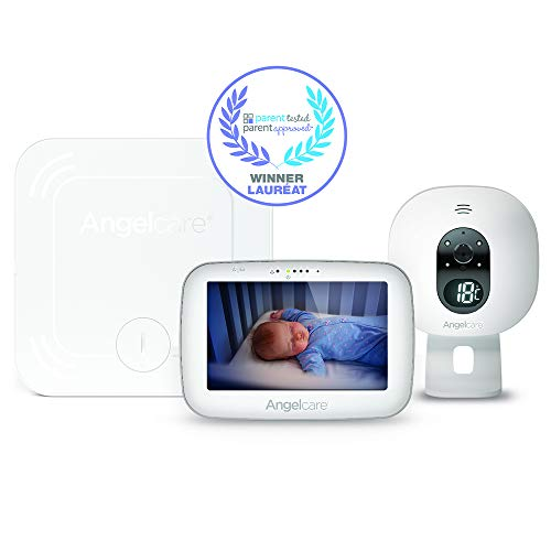 3-in-1 Angelcare AC527 Baby Breathing Monitor, with 5'' Video, Sound & Temperature Display on Camera