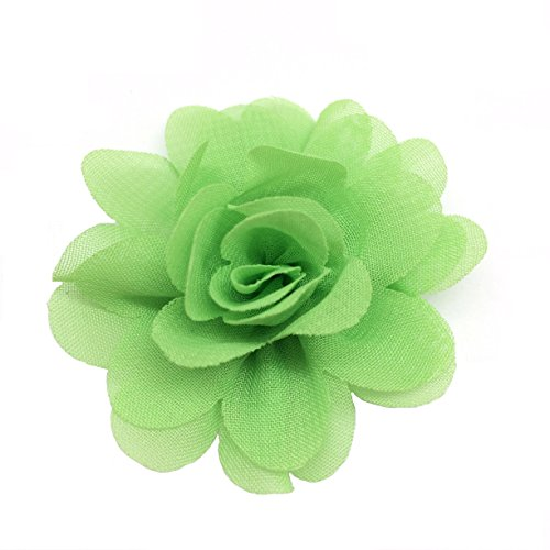 PEPPERLONELY 10PC Set Green Fashion DIY Artifical Fabric Flowers, 2.2 Inch by PEPPERLONELY