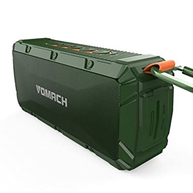Vomach Bluetooth Speakers Wireless Speakers Portable Speakers Outdoor Speakers IPX6 Waterproof Bluetooth Speaker Stereo Speakers Green