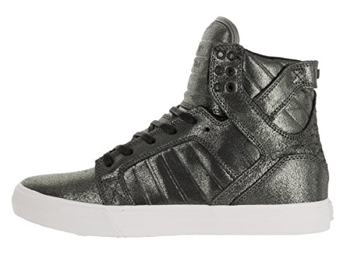 Supra Mens Skytop Tin Metalic-wit
