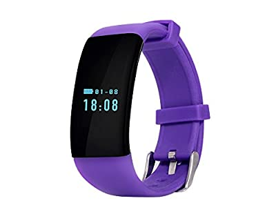 50Meters Waterproof Men Women Heart Rate Monitor Smart Wristband bracelet,with Bluetooth 4.0 Activity Fitness Tracker,Fits for Wrist 7.2-9.0 inches