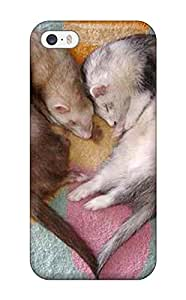 Hot Tpu Cover Case For Iphone/ 5/5s Case Cover Skin - Sleeping Weasels 7852989K44758581