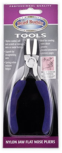 Shipwreck Beads Stainless Steel Double Nylon Jaw Round Nose Jewelry Pliers 5-Inch
