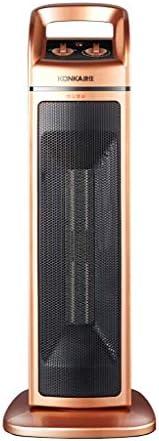 ホームバス縦型マシン2000W電動ポータブルセラミックスイングタイプ電動タワーファンは、首を振ることができます(色:黒)