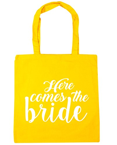 x38cm Tote Here 10 HippoWarehouse litres Yellow Beach Gym the Bag 42cm comes bride Shopping xZnIvq