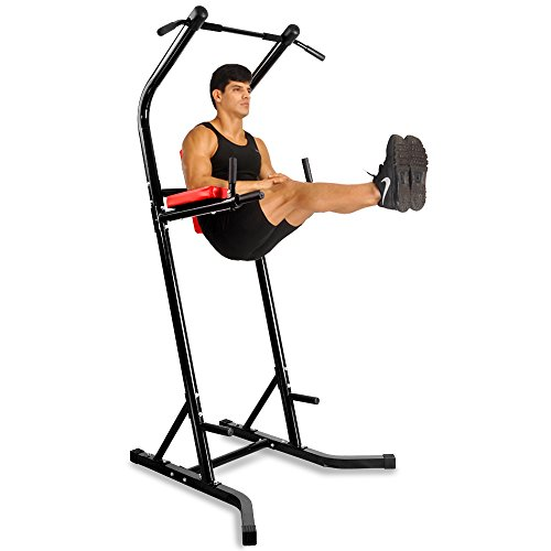 Docheer Heavy Duty 500 lbs Power Tower with Dip Station, Pull Up Bar Standing Tower Gym Equipment Sports Pull Up Tower-Black by Docheer