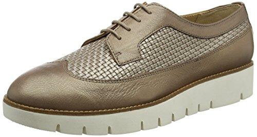 Geox D Blenda a, Zapatos de Cordones Derby para Mujer Beige (TAUPEC6029)