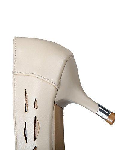 GGX/Damen Schuhe PU Sommer/Herbst Heels/spitz Toe Heels Office & Karriere/Casual Stiletto-Absatz andere Pink/Weiß/Beige pink-us10.5 / eu42 / uk8.5 / cn43