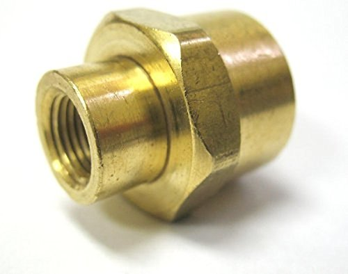 MettleAir 119-DB 1/2'' NPT Female to 1/4'' NPT Female Brass Pipe Reducing/Reducer Coupling (Pack of 10)