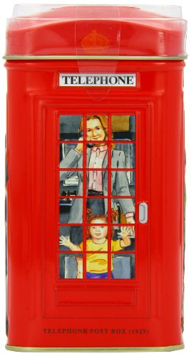 Ahmad Tea 25 Teabag Caddy Gift Tin, London Telephone Box, English Breakfast, 1.7 (Caddy Gift)