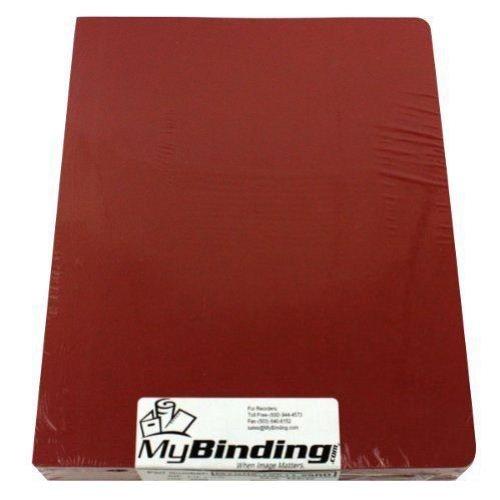 (Red Grain 8.75 x 11.25 Oversize Binding Covers - 100pk MyBinding MYGR8.75X11.25RD Red)