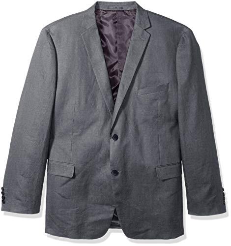 U.S. Polo Assn. Men's Big and Tall Linen Sport Coat, Grey, 50 Long
