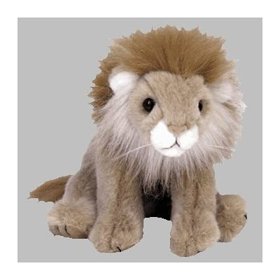 TY Classic Beanie Buddy Sahara the Lion Plush: Toys & Games