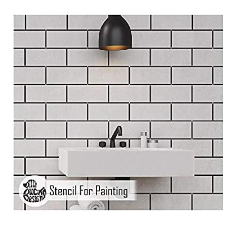 Metro Subway Tile Stencil for Painting | Stencils for