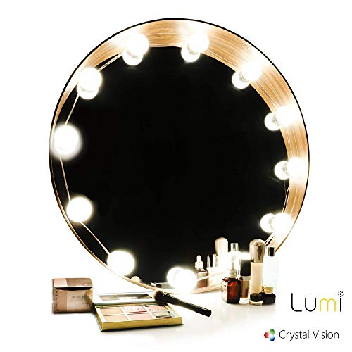 Crystal Vision Technology Crystal Vision Lumi Versatile Home Decorative Dimmable LED lumièreing Kit 12 Bulbs w Remote Controller